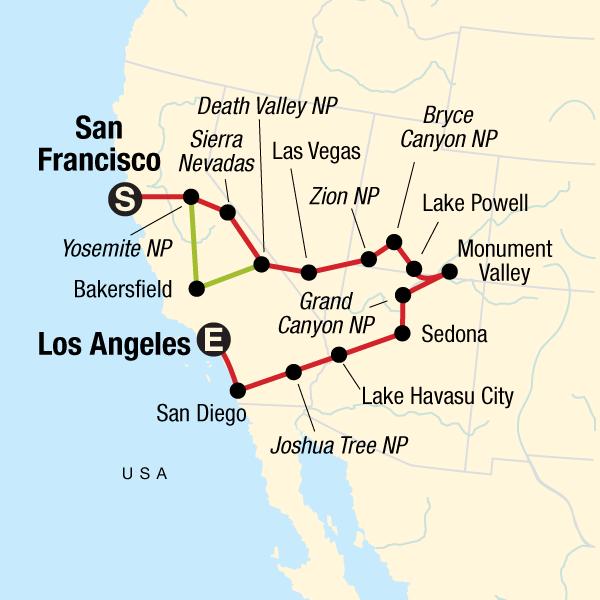 Nationalparks & Metropolen der USA in Vereinigte Staaten ...