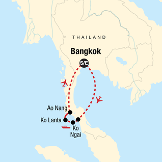 Map of Thailand Island Hopping – West Coast — Plus