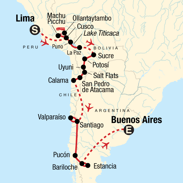 Lima Peru Karte.Die Panoramastraße Von Lima Nach Buenos Aires