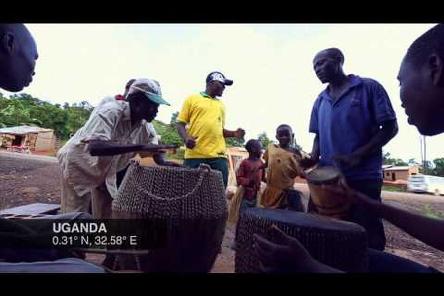 Take a seven-second dance break along with this impromptu drumming circle in Uganda.
