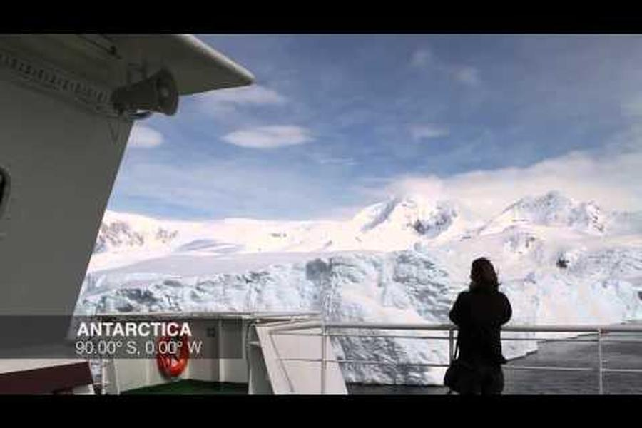 Most people who've travelled to Antarctica will tell you you never really get used to the feeling of cruising past glaciers and ice floes. All it takes is seven seconds to escape to the great white south. Can you spare it?