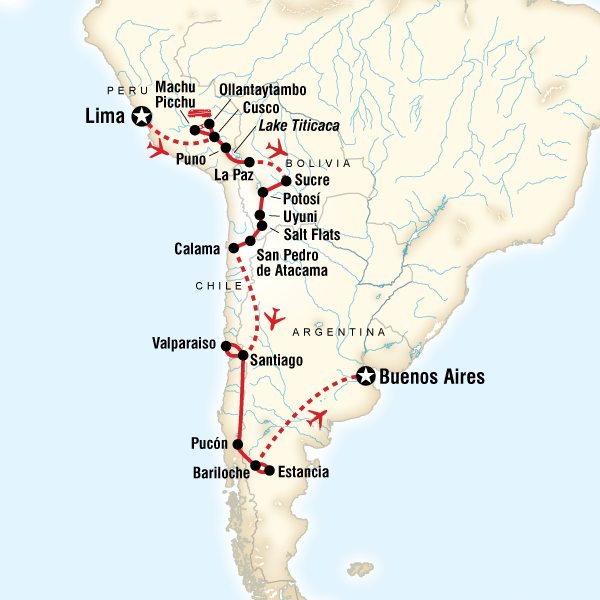 The Scenic Route - Lima to Buenos Aires in Peru, South America - G ...