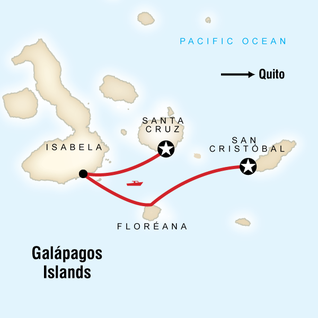 Map of Galápagos Express Adventure: Wilderness & Wildlife