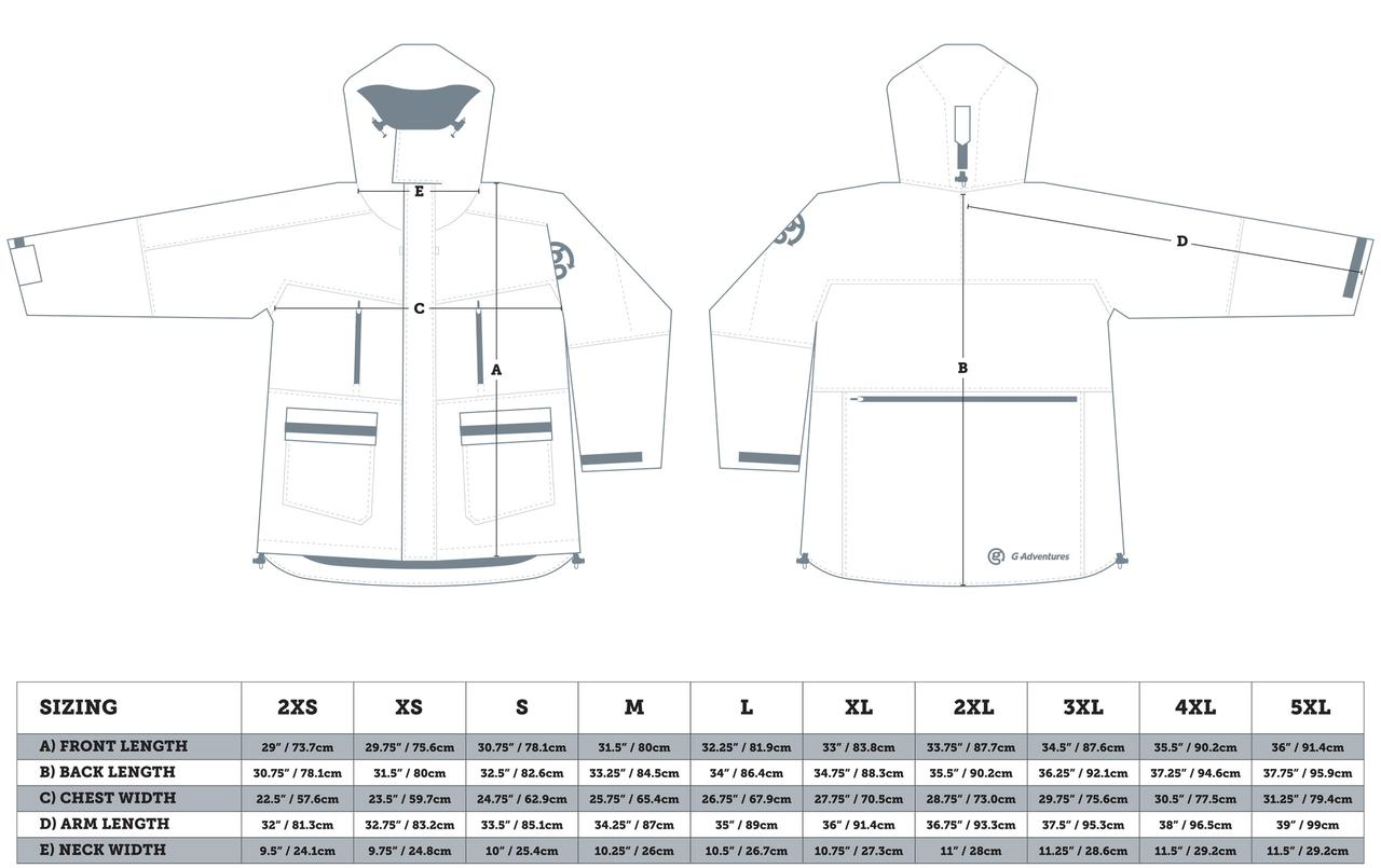 Canada Goose' womens expedition parka size chart