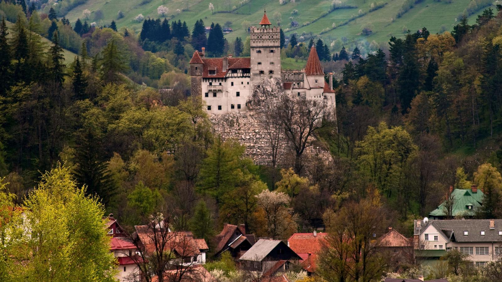 Bram Castle, the inspiration for Castle Dracula, Transylvania.