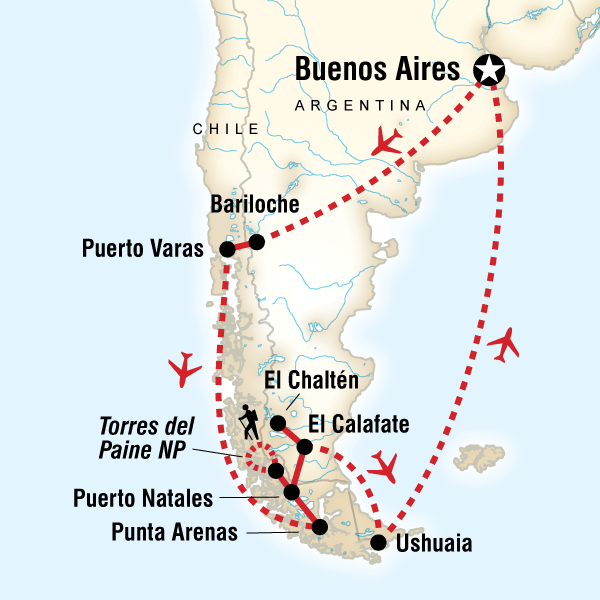 Tours of argentina tour map of patagonia dreaming gumiabroncs Images