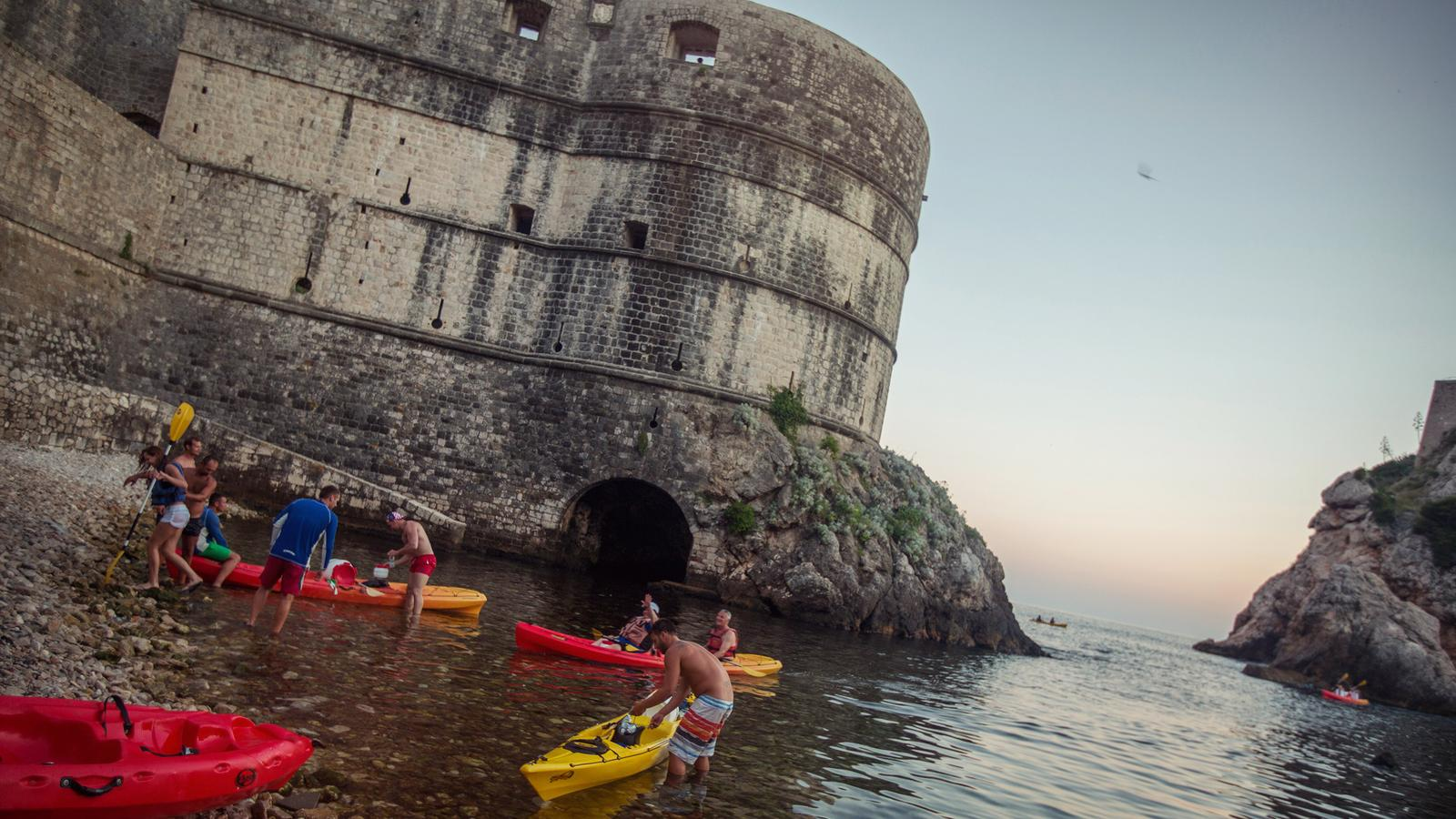 Getting ready for a kayak ride throught the Bay of Kotor