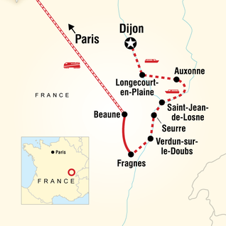 Map of Burgundy by River Barge