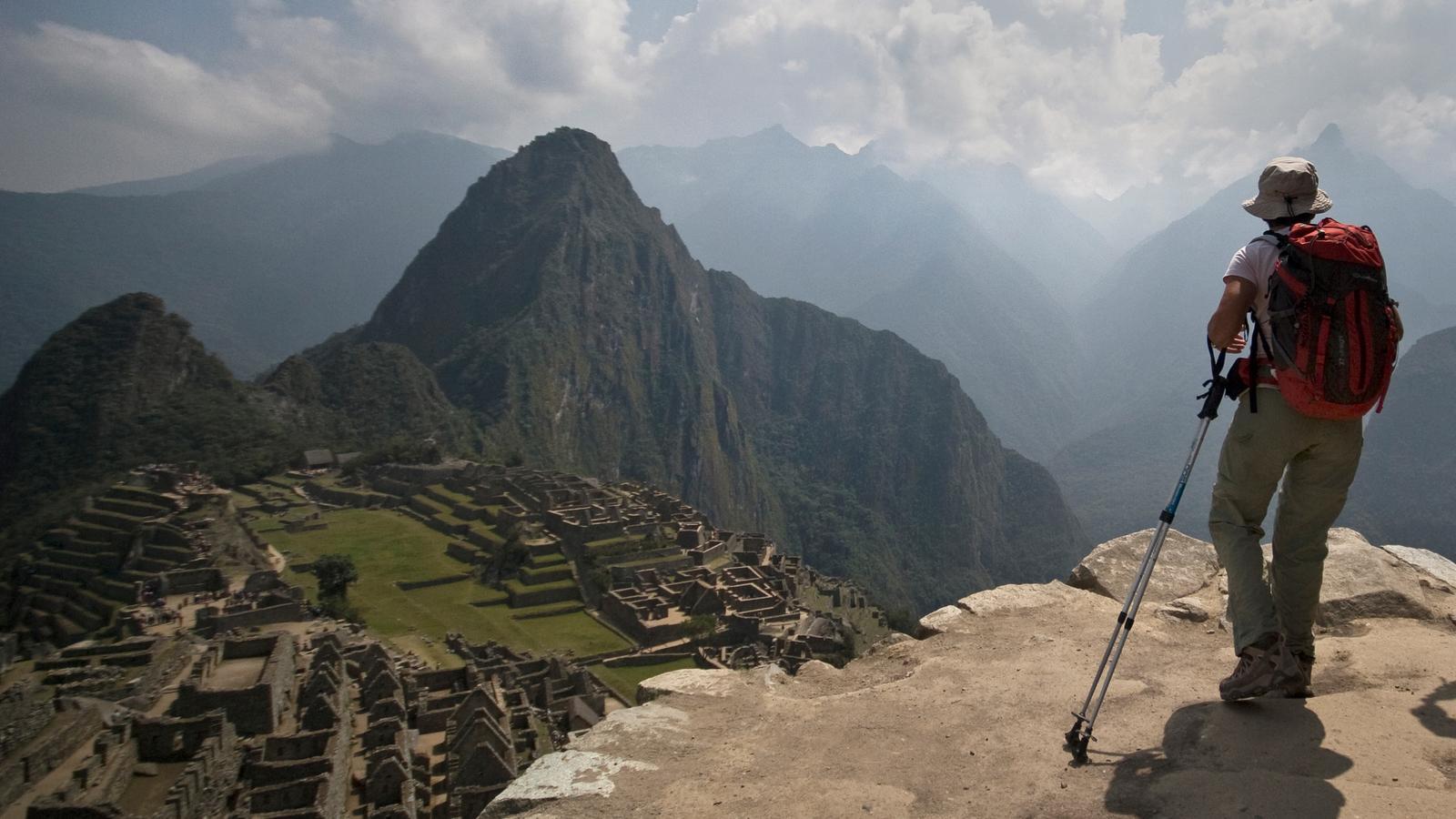 the inca trail in peru  south america