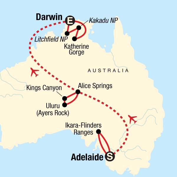 Outback to the Top End–Adelaide to Darwin in Australia