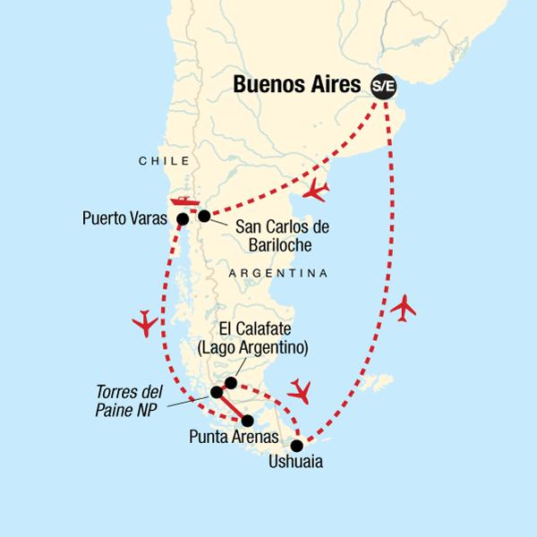 Patagonien Highlights Karte.Entdecke Patagonien In Argentinien Südamerika G Adventures