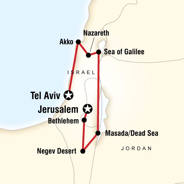 Israel Explorer In Israel North Africa Middle East G Adventures - Negev desert map