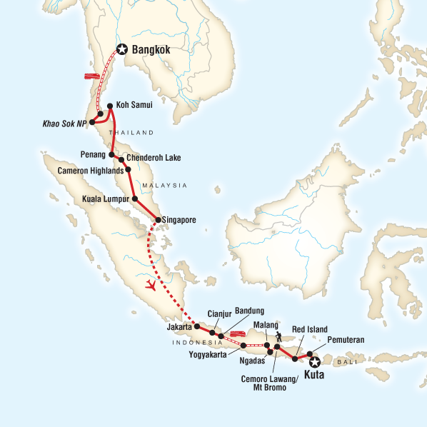Bangkok to Kuta on a Shoestring in Malaysia, Asia - G Adventures