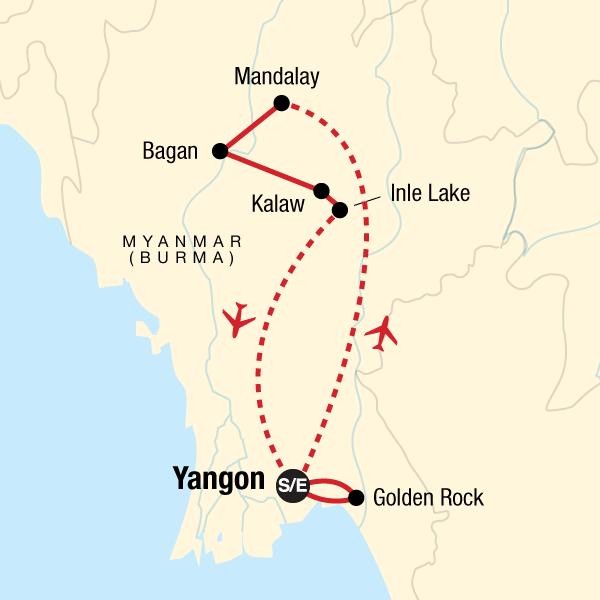 Karte Myanmar.Erlebnisreise Durch Myanmar In Burma Myanmar Asien G Adventures