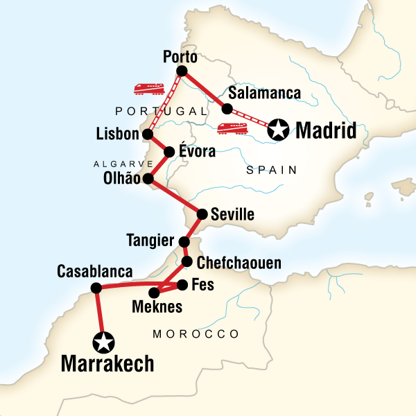 İspanya Portekiz Fas Turu