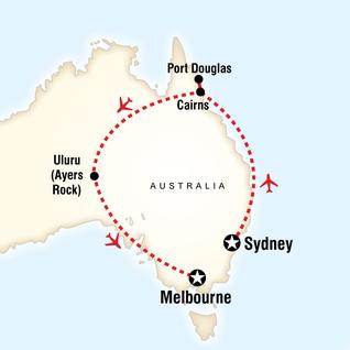 Map of Explore Australia