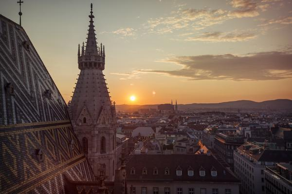 Perch yourself at the top of St Stephan's Cathedral to watch the sunset.