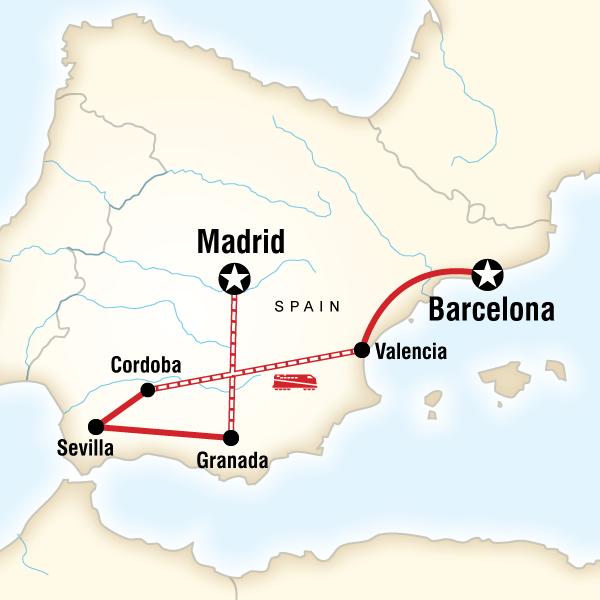 Güney İspanya Turu Rotası