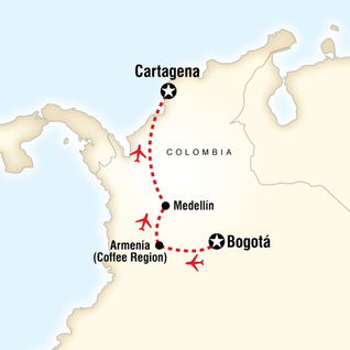 Map of Colombia Journey
