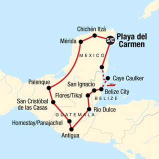 Map of Mayan Adventure