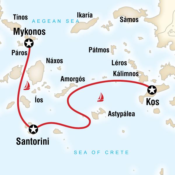 Sailing Greece - Mykonos to Kos in Greece, Europe - G Adventures