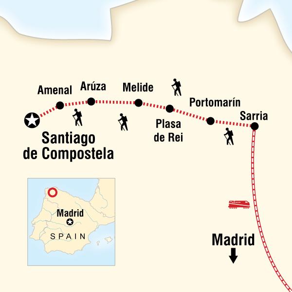 Camino De Santiago Encompassed In Spain, Europe