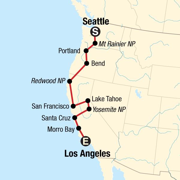 USA Road Trip: Pacific Coast — Seattle to LA in United ... Santa Cruz Coast Road Map on san diego coast map, san andreas map, calif coast map, united states coast map, inland valley map, san francisco coast map, sonoma county map, new england coast map, el camino map, pismo coast map, northern ca coast map, high desert map, miami coast map, pacific coast map, san mateo coast map, big sur coast map, new york coast map, socal coast map, north bay map, kona coast map,