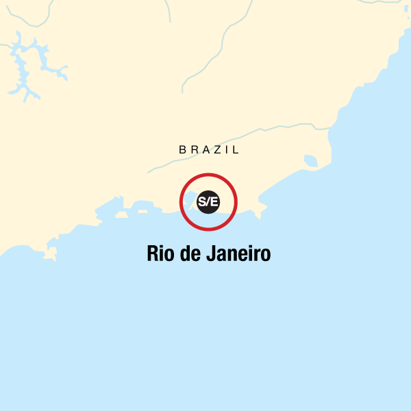 Map of the route for Rio de Janeiro Carnival Experience