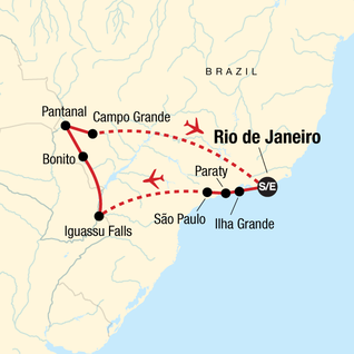 Map of Wonders of Brazil