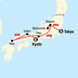 Map of Back Roads of Japan