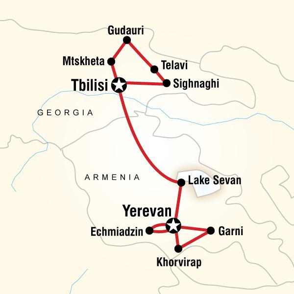 Best Of Georgia Armenia In Georgia Europe G Adventures - Yerevan georgia map