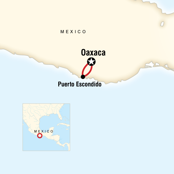 Guajaca Mexico Map.Oaxaca Day Of The Dead Puerto Escondido In Mexico Central America