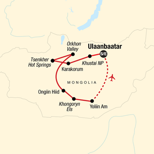 Map of Discover Mongolia