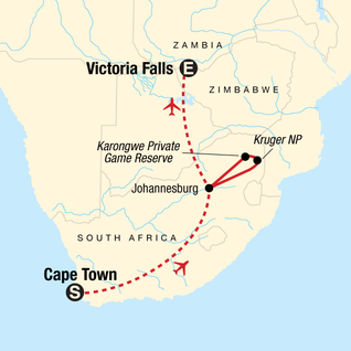 Map of Explore Southern Africa