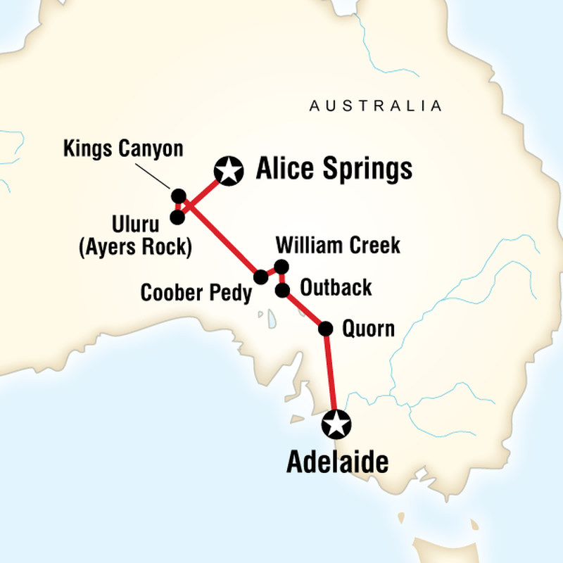 Outback To The Red Centre Adelaide To Alice Springs In