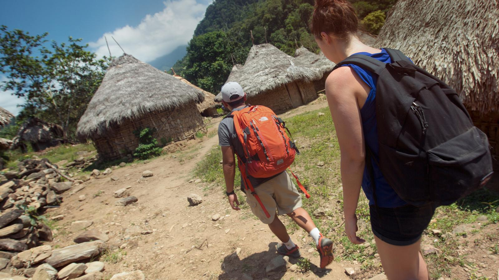 Visiting the Lost City Village in Colombia