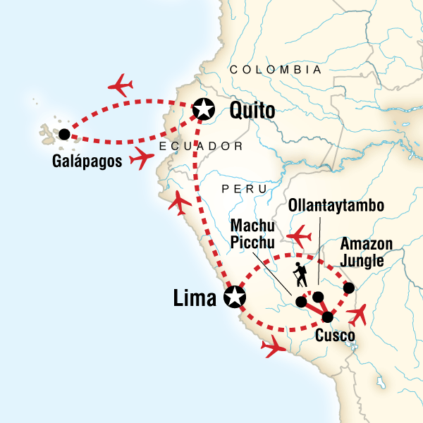 Amazon to the Andes  Galpagos South  Central Islands in Peru