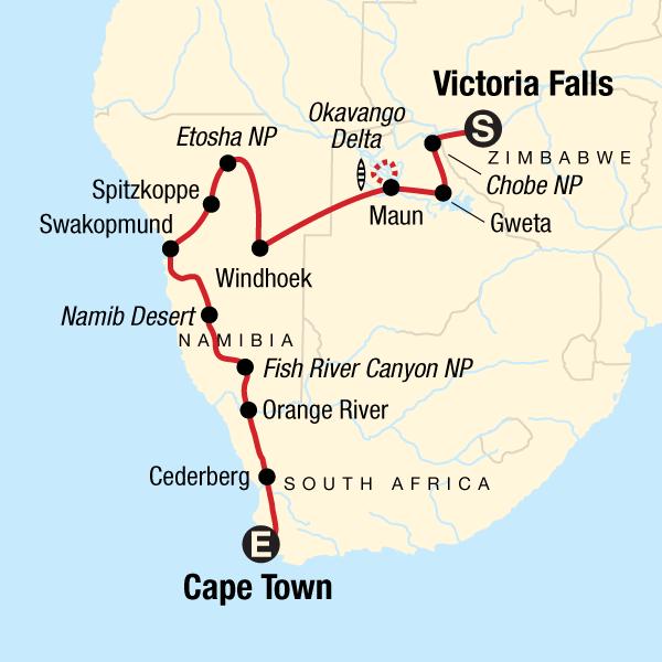 Der Süden Afrikas Südwärts – Dünen, Deltas & Wasserfälle