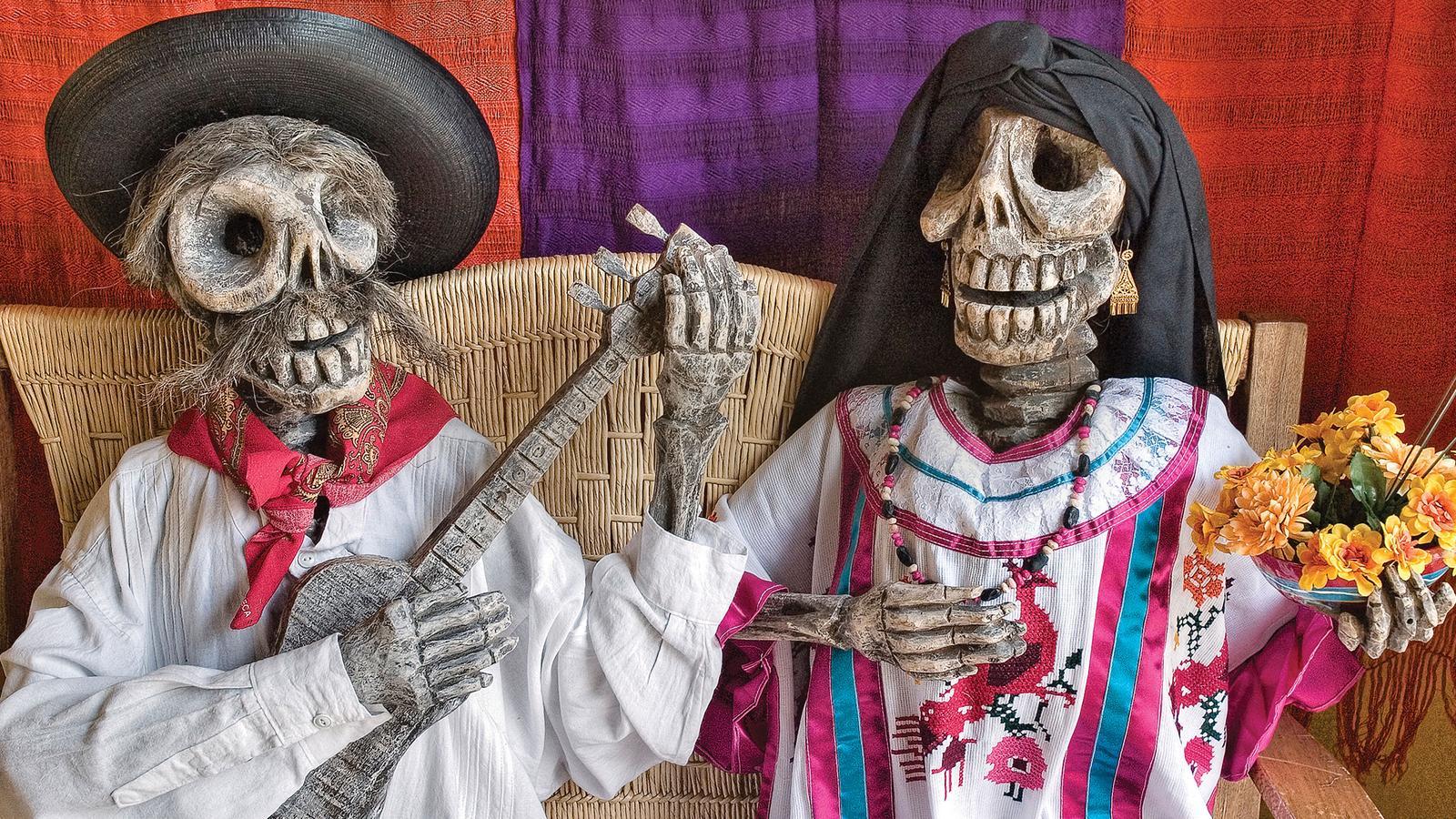 Skeletons in Oaxaca Mexico