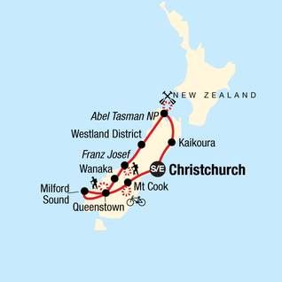Map of New Zealand – South Island Multisport