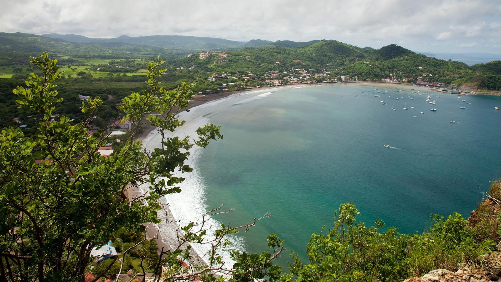 Beach coast at San Juan del Sur in Nicaragua