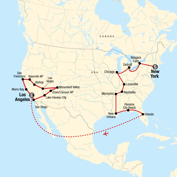 USA Road Trip: Highlights of America in United States, North ...