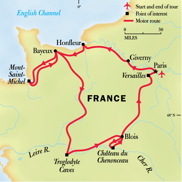 Map Of France Giverny.France Family Journey From Paris To Normandy And Beyond In France