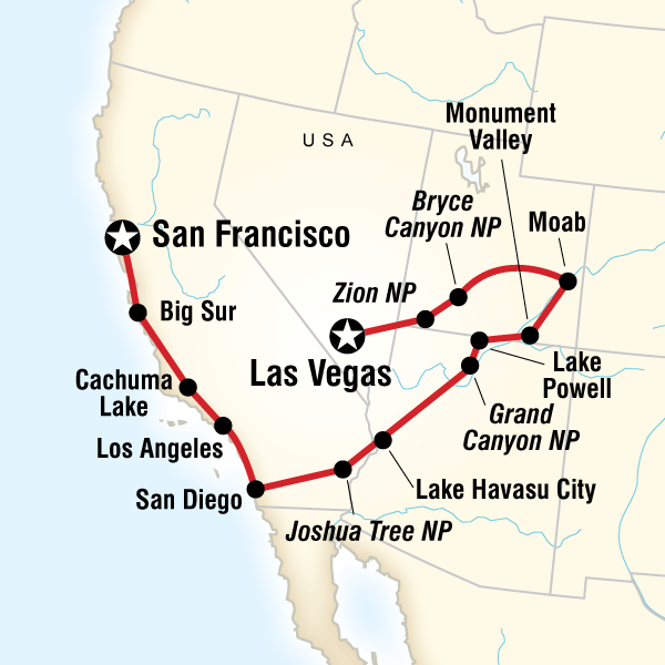 California to the Grand Canyon Road Trip