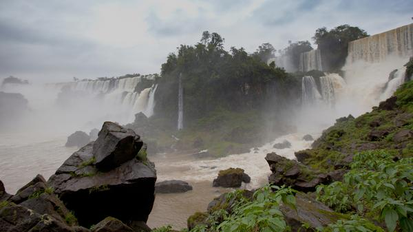 Bring your poncho, 'cause we're getting misty at Iguassu Falls in Brazil.