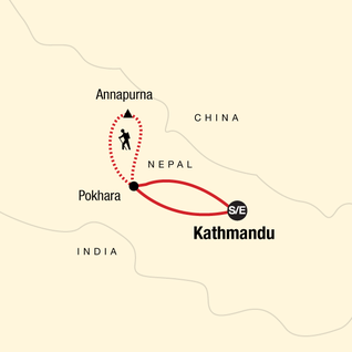 Map of Annapurna Sanctuary