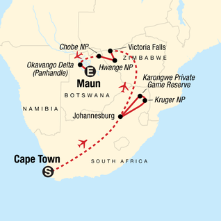 Botswana South Africa Map.Botswana Tours Travel G Adventures