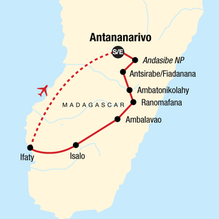 Map of Highlights of Madagascar