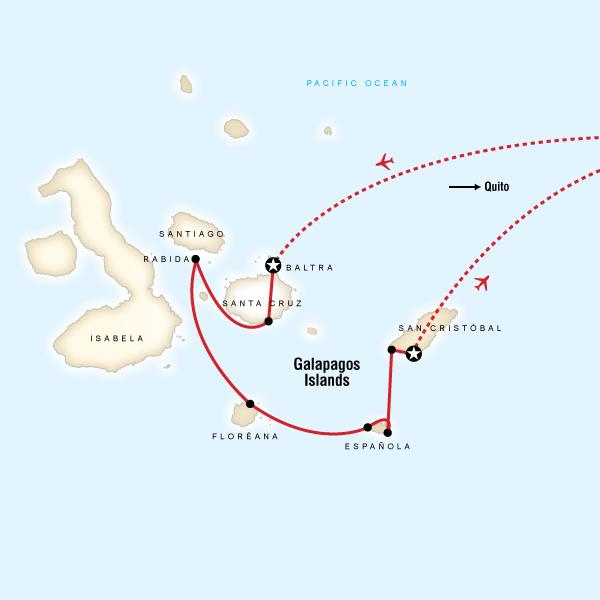 Galpagos  South Islands aboard the Xavier III in Galapagos