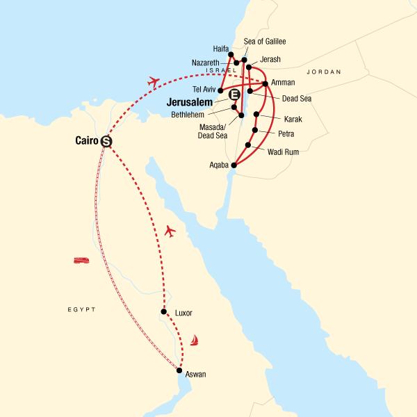 Jerusalem Karte Heute.Das Beste Von Agypten Jordanien Und Israel